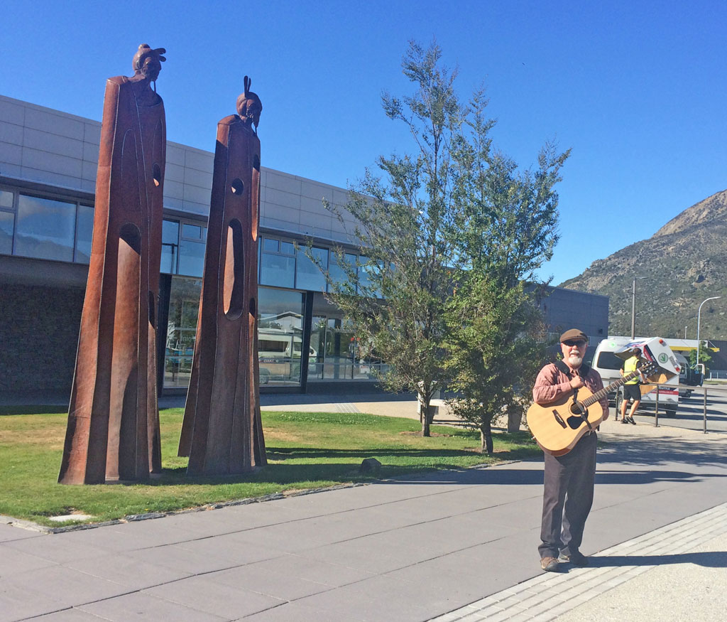 David Pierce Queenstown AirPort With Voyage Air Guitar
