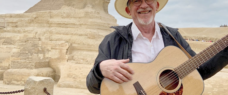 Don Ablett With His Voyage Air At The Sphinx In Giza