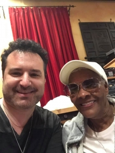 Tony Pulizzi With Dionne Warwick In The Studio