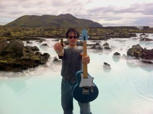 John Bohlinger @ Blue Lagoon in Iceland with his blue TelAir