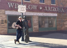 Don Ablett Voyage Air Standing On A Corner In Winslow Arizona